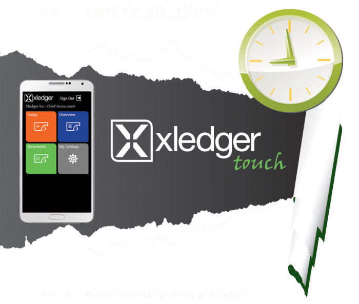 Xledger Touch. Makes your life easier.